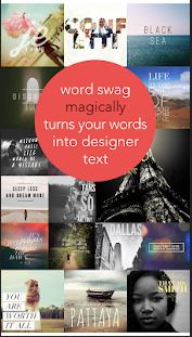 Photo Editor Software & Apps with Texting Feature - Word Swag