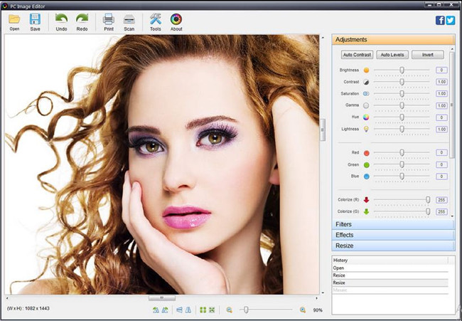 Photo Editor Software & Apps with Texting Feature - PC Image Editor