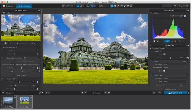 Photo Effect Editor Programs and Apps - DxO OpticsPro for Photos