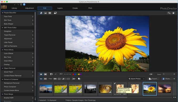 Photo Effect Editor Programs and Apps - CyberLink PhotoDirector 9