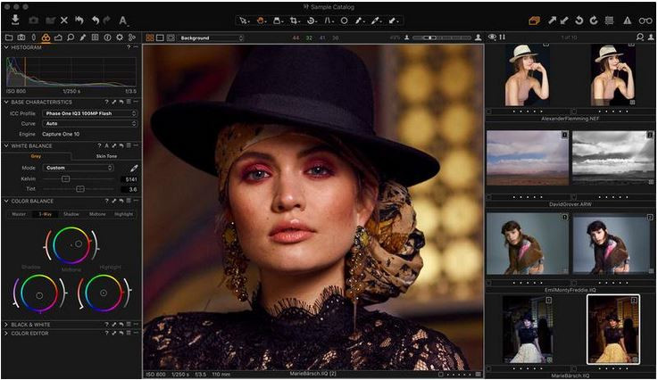 Photo Effect Editor Programs and Apps - Capture One Pro 10