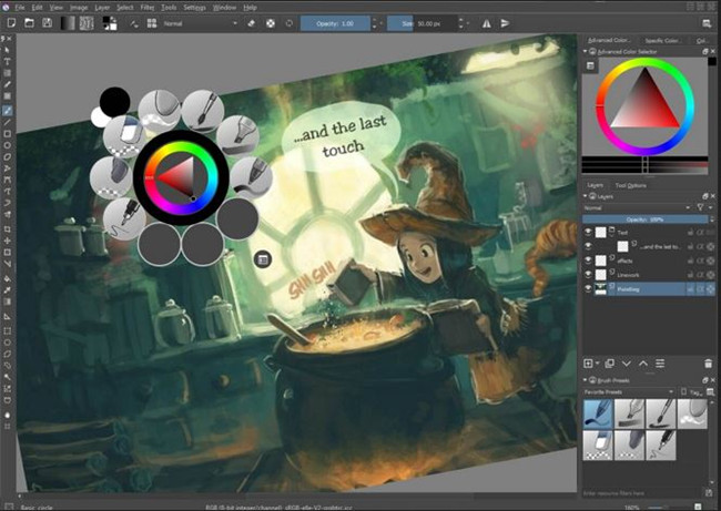 Photo Frame Editor Software and Apps - Krita Desktop
