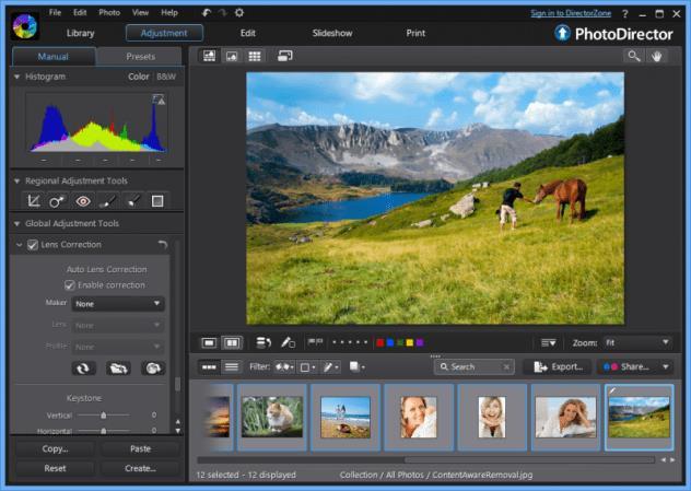 Professional Photo Editor Software - Cyberlink PhotoDirector 8 Ultra