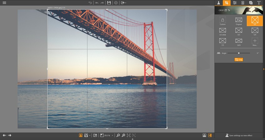Add Filter to Photo - Resize Image on Fotophire