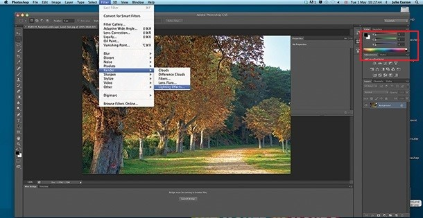 Photo Light Effects - Pick the Light Type from the Properties Panel