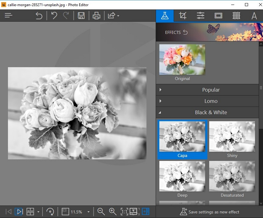 Cool Photoshop Effects- Choose Black&White Capa Effect