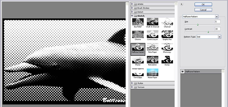 Cool Photo Effects- Cool Halftone Effects with Pattens