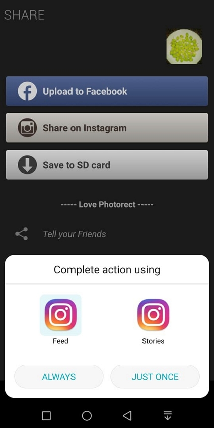 How to Use Instagram Filters  - Finish the Share of the Instagram Filter Photo