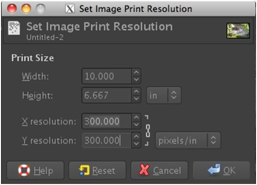 How to Increase DPI of Images - Add Image to GIMP