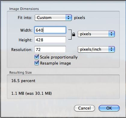 How to Increase Image Size - Save Changes