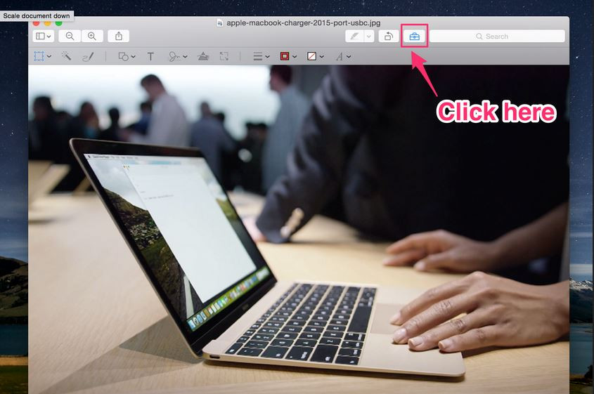 How to Make a High Resolution Photo - Open Image wiht Preview
