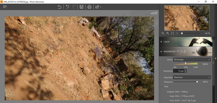 Make an Image Bigger - Make an Image Bigger with Fotophire Maximizer