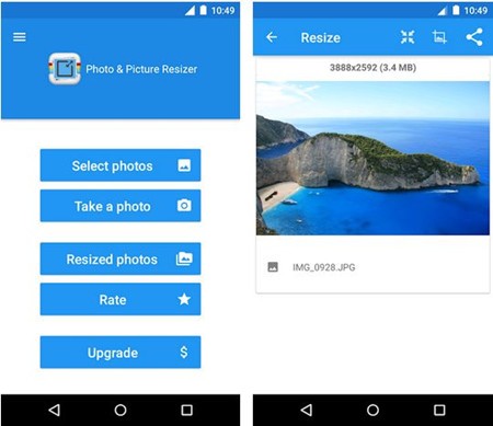 How to Make a Picture Higher Resolution - Start the App and Add Picture