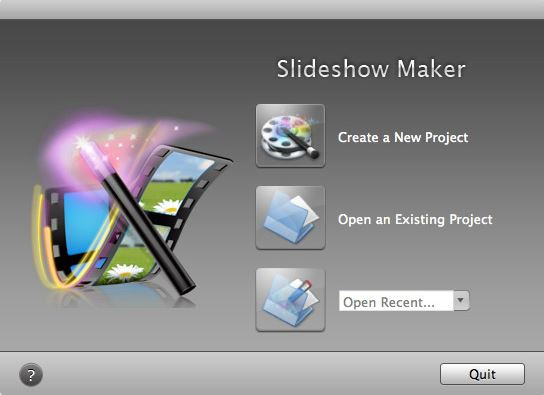 Make a Video Presentation with Pictures and Music - Create a new project