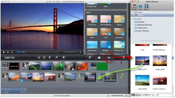 Make a Video Presentation with Pictures and Music - Import Photos from computer