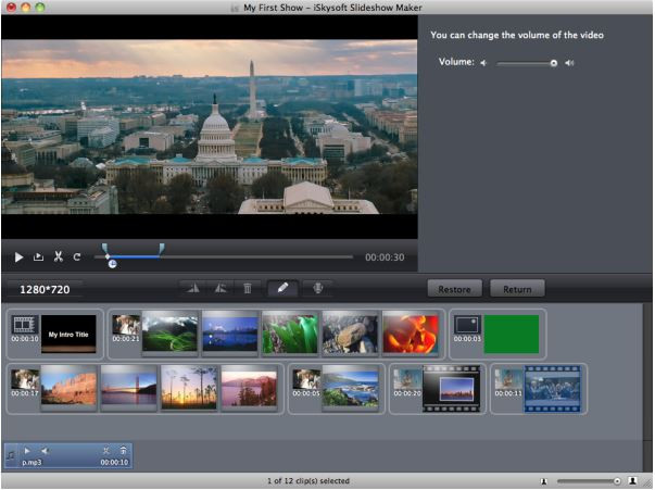 Make a Video Presentation with Pictures and Music - Choose style and edit slideshow
