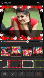 Make a Video Presentation with Pictures and Music - Choose video frame for slideshow