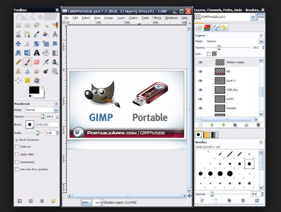YouTube Background Maker - GIMP