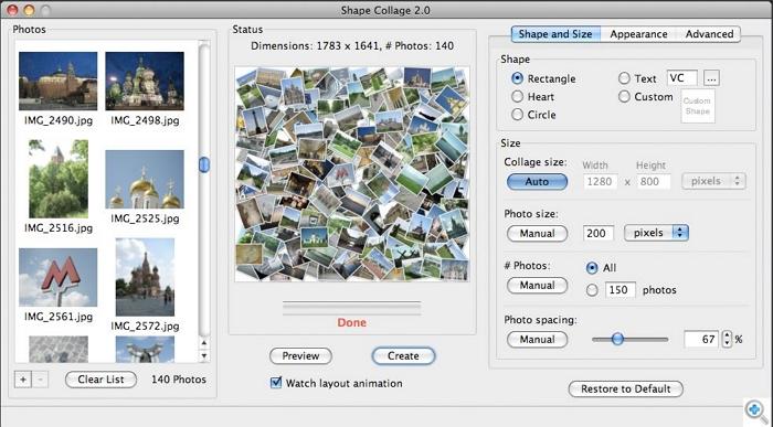 Instagram Collage Maker -Shape Collage
