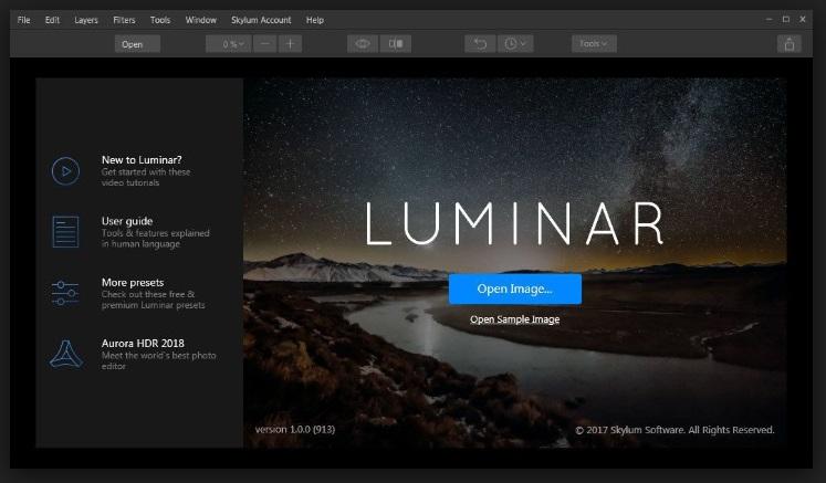 YouTube Photo Editor - Luminar 2018