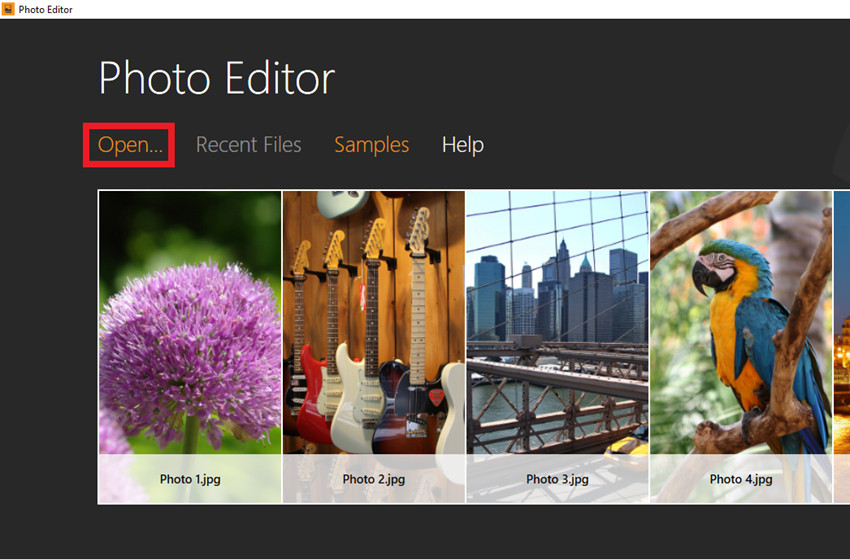How to Make Your Photo Match Facebook Post Image Size - Import Image File