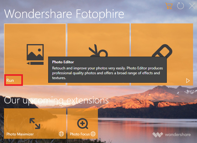 How to Make Facebook Cover Photos - Start Wondershare Fotophire