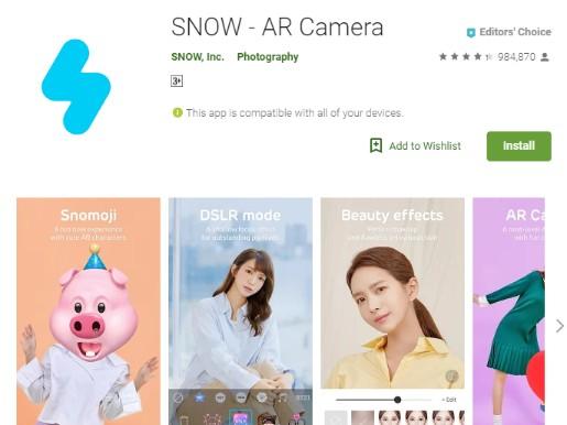 Snapchat Photo Editor - Snow
