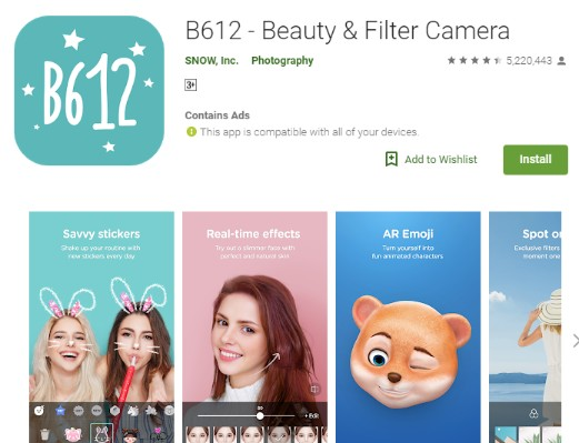 Snapchat Photo Editor - B612 - Beauty & Filter Camera