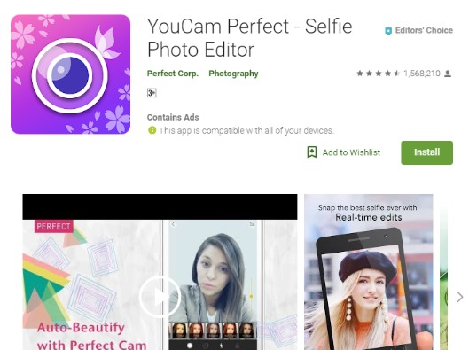 Snapchat Photo Editor - YouCam Perfect - Selfie Photo Editor