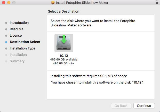 Install Fotophire Slideshow Maker - Choose Folder for Installation