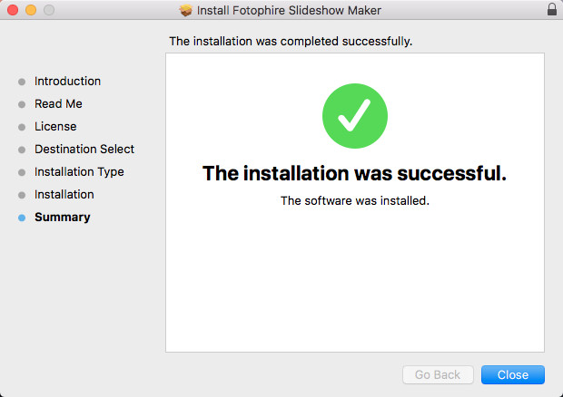 Install Fotophire Slideshow Maker - Finish Installing Slideshow Maker