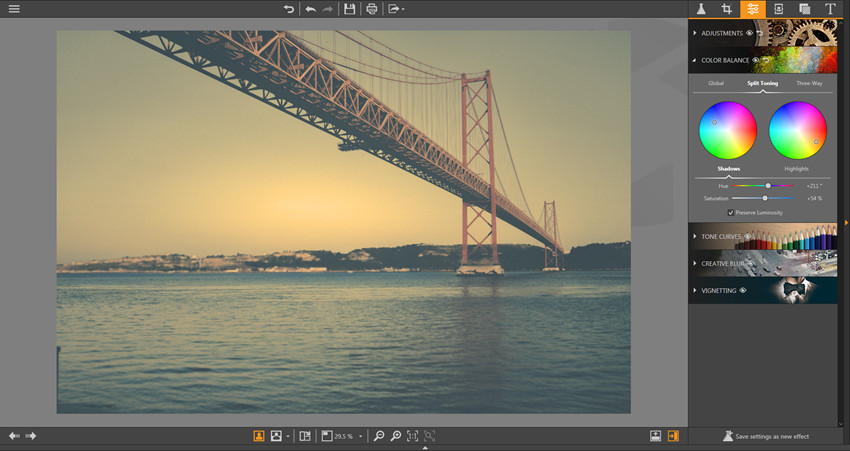 Make Adjustments on Photos - Split Toning