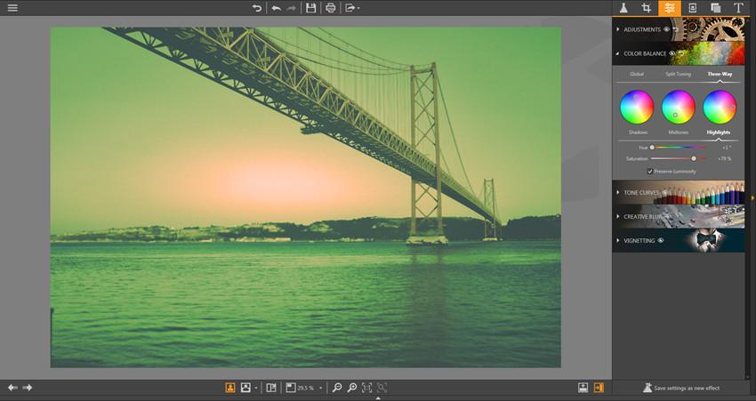 Make Adjustments on Photos - Three-Way