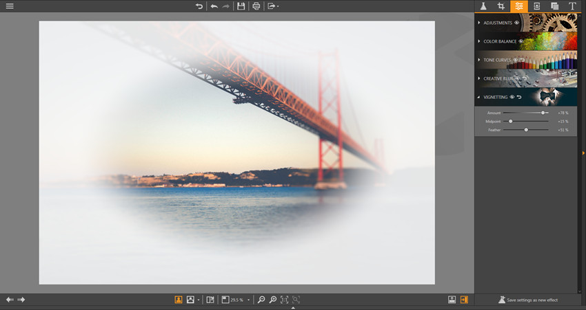 Make Adjustments on Photos - Vignetting