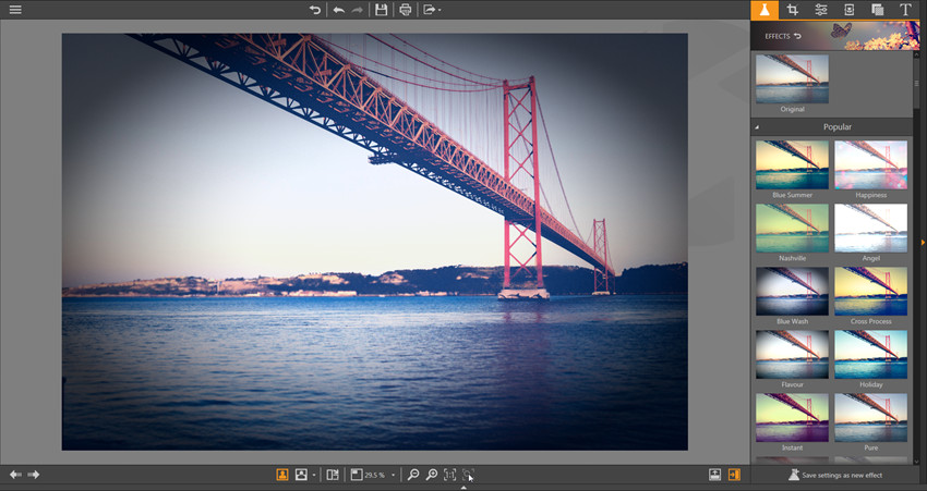 Apply Effects on Photos - Fit to Screen