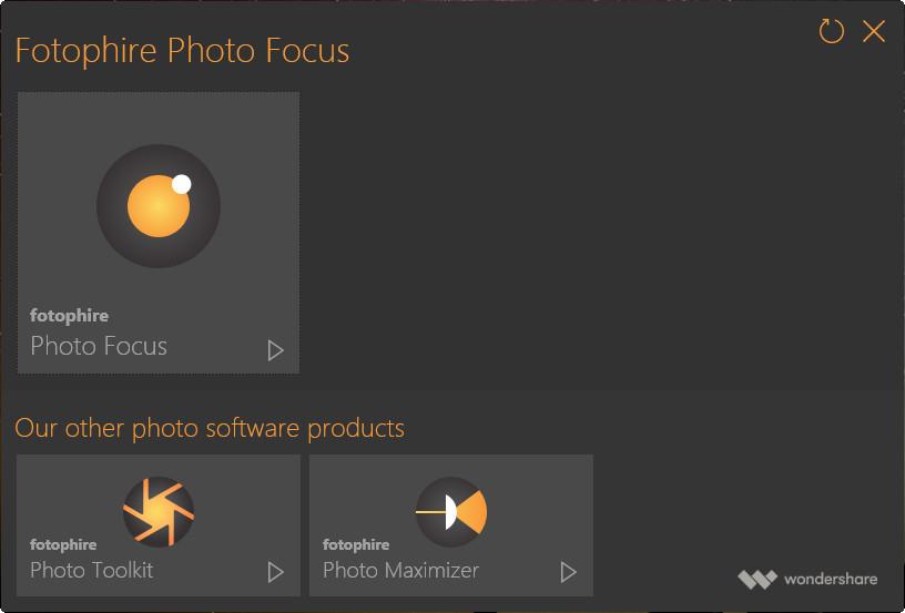 1 Click Sharpen Photo - Start Program