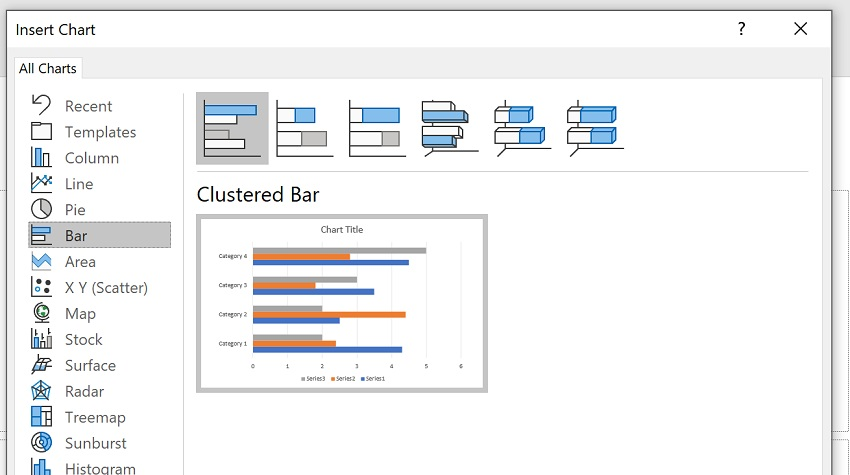 3 Ways to Make Bar Charts - Powerpoint Step 2