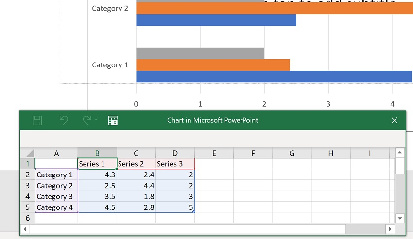 3 Ways to Make Bar Charts - Powerpoint Step 3