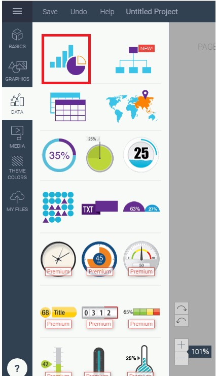 Top free tools to make beautiful pie charts - step1